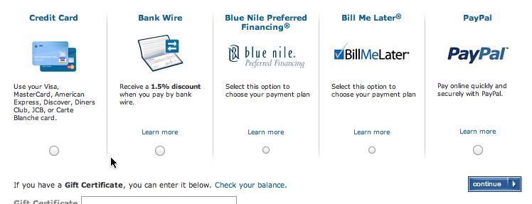支付方式选择页面的设计
